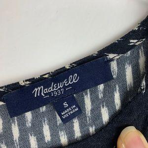 Madewell Tops - Madewell Sunbask Ikat Brush Black White Tank Top